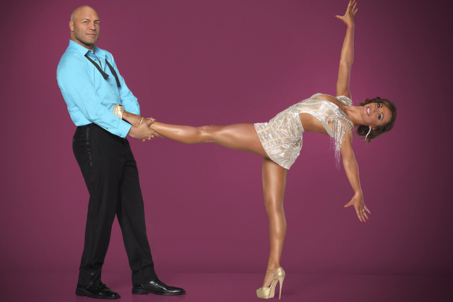 "Randy Couture partners with Karina Smirnoff on ""Dancing With the Stars."" (Craig Sjodin/ABC)"