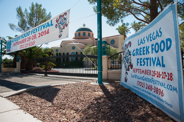 The exterior of St. John the Baptist Church on 5300 El Camino Road in Las Vegas Saturday, Sept. 13, 2014. (Martin S. Fuentes/Las Vegas Review-Journal)
