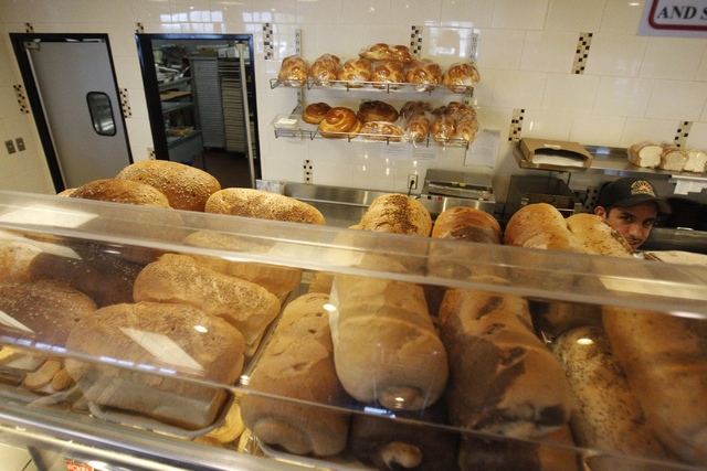 Baked goods for the Jewish holiday Rosh Hashanah are seen on display at Bagel Cafe, 301 N. Buffalo Drive, in Las Vegas Wednesday, Sept. 17, 2014. (Erik Verduzco/Las Vegas Review-Journal)