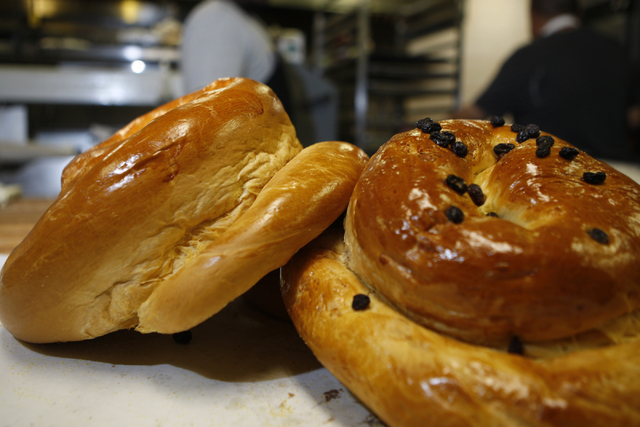 Challah bread for the Jewish holiday Rosh Hashanah is seen on display at Bagel Cafe, 301 N. Buffalo Drive, in Las Vegas Wednesday, Sept. 17, 2014. (Erik Verduzco/Las Vegas Review-Journal)