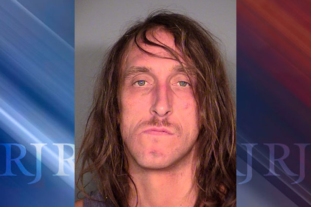 Ryan Brown was arrested Wednesday night after he drove a truck through the Stratosphere's front entrance. (Courtesy/Las Vegas Metropolitan Police Department)