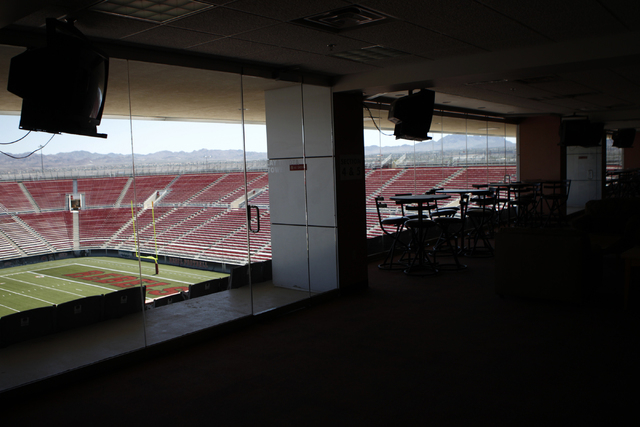 The view from the club section at at Sam Boyd Stadium is seen during a tour Tuesday, Sept. 2, 2014. (Erik Verduzco/Las Vegas Review-Journal)
