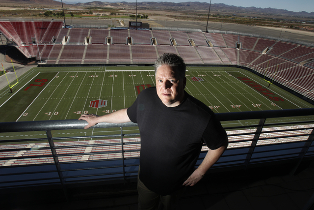 Mike Newcomb, executive director of stadiums at UNLV, poses for a portrait at Sam Boyd Stadium Tuesday, Sept. 2, 2014. (Erik Verduzco/Las Vegas Review-Journal)