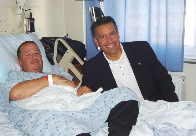 Gov. Brian Sandoval visited with staff and patients on Saturday, Sept. 27, 2014, at Landstuhl Regional Medical Center, Germany. (U.S. Army Photos/Chuck Roberts)