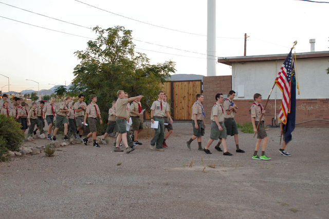 Henderson/Green Valley Elks Lodge No. 2802, 631 East Lake Mead Parkway, invited Boy Scout Troops 95 and 256 and the lodge-sponsored Cub Scout Pack 304 to assist in the annual retirement of United  ...