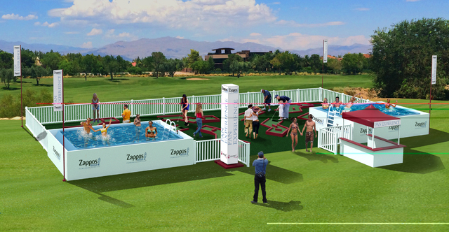 Shriners Hospitals for Children Open plans to introduce the first public pools on the PGA TOUR during the 2014 tournament at TPC Summerlin in Las Vegas. (Courtesy