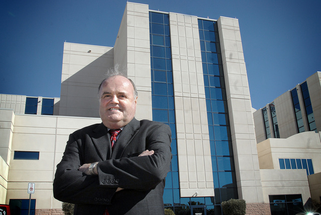 Mark Howard, the founding CEO and president of Mountain View Hospital, stands in front of the facility at 3100 N. Tenaya Way, Jan. 5, 2008. Howard, who now lives in Northern Nevada, is the namesak ...