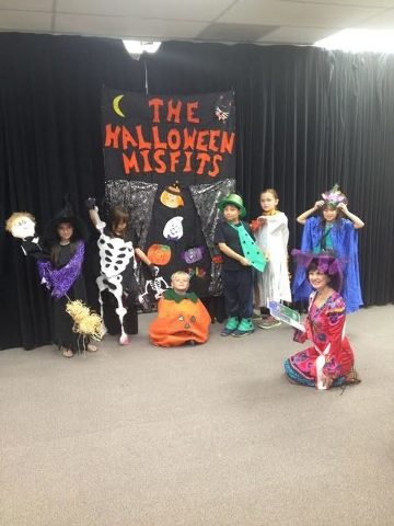 Lummis Elementary School third-graders practice in this undated photo for a Halloween performance set for 7 p.m. Oct. 7 at the Suncoast Ballroom, 9090 Alta Drive. The performance will feature Hall ...