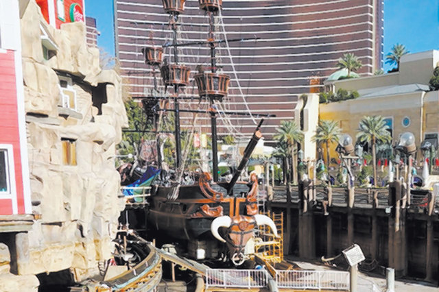 """The Sirens of TI"" space at Treasure Island is in dry dock. (Norm Clarke/Las Vegas Review-Journal)"