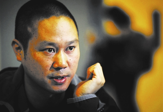 JEFF SCHEID/LAS VEGAS REVIEW-JOURNAL Tony Hsieh, CEO of online clothing retailer Zappos.com, takes part in an interview at The Beat Coffehouse, 520 E. Fremont St., in Las Vegas on Friday, Feb. 3,  ...