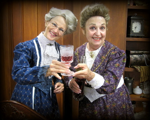 "The sweetly homicidal Brewster sisters (Mary Alice Burack, Andee Gibbs) offer a sip of their poison-laced elderberry wine in the farcical ""Arsenic and Old Lace,"" which opens its Super Summer Theat ..."