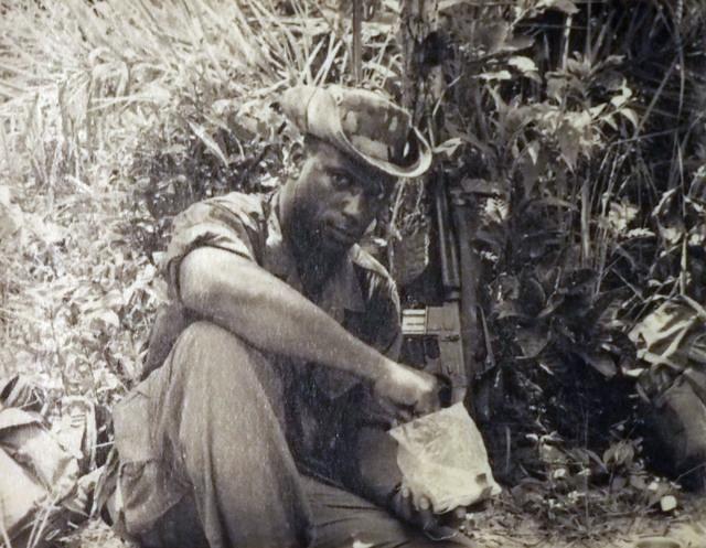 U.S. Army Sgt. 1st. Class William Miller is seen  on ambush patrol in Vietnam on Oct. 10, 1968. (Photo courtesy of William Miller)