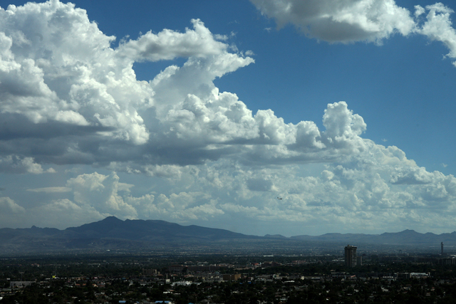 Scattered storms are likely for the Las Vegas Valley as a moist and unstable air mass and a low pressure system move into the area. Friday, September 26, 2014. (Michael Quine/Las Vegas Review-Journal)