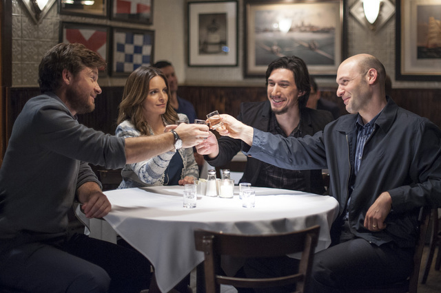 """Jason Bateman, Tina Fey, Adam Driver and Corey Stoll star in """"This Is Where I Leave You."""" (Warner Bros. Pictures)"""