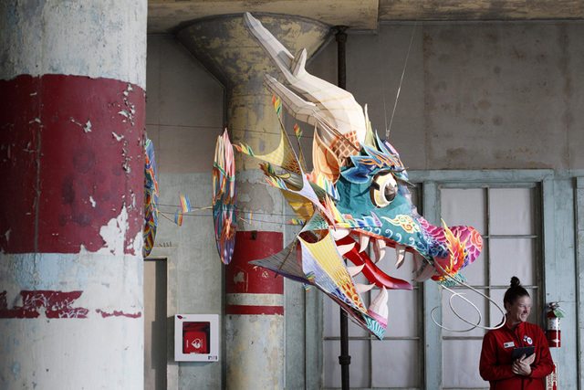 "Ai Weiwei's installation ""With Wind"" is presented at the Golden Gate National Recreation Area's Alcatraz Island near San Francisco, California, September 24, 2014. Starting September 27, the forme ..."