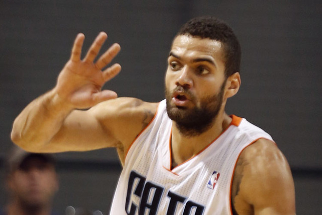 Charlotte Hornets forward Jeffrey Taylor, shown here in a preseason game in 2012, has been arrested in Michigan on domestic assault charges.  (AP File Photo/Mic Smith)