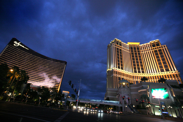 The Wynn and The Palazzo hotel-casaino is shown on May 19, 2011. (JEFF SCHEID/LAS VEGAS REVIEW-JOURNAL)