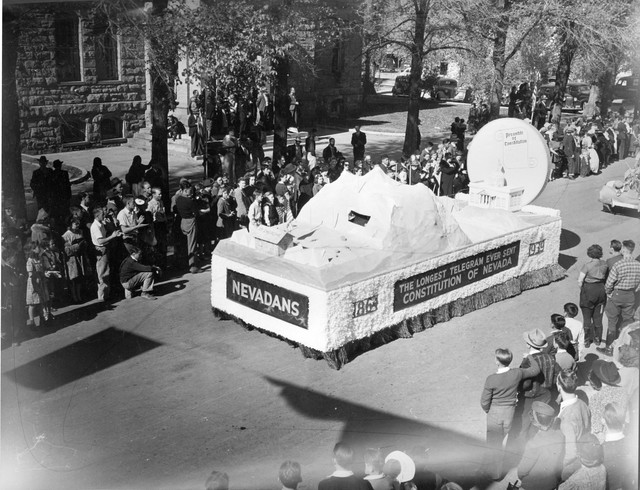 The Nevada Day parade in Carson City, 1939. (Courtesy Nevada State Library and Archives)