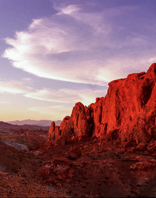 A rock formation at the Valley of Fire State Park, July 8, 2002. (Christine H. Wetzel/Las Vegas Review-Journal)