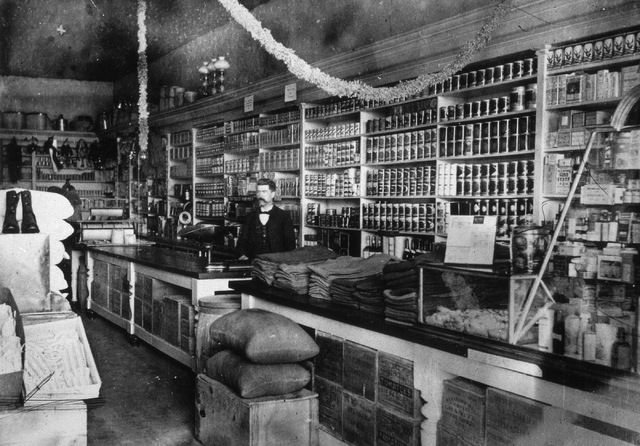 Buckingham's General Store Interior, ca. 1898. (Library of Congress)