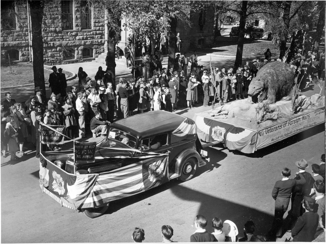 The Nevada Day parade marks the state's 75th anniversary in Carson City in 1939. Nevada was home to about 100,000 people then, making it the least-populated state. (Courtesy Nevada State Library ...