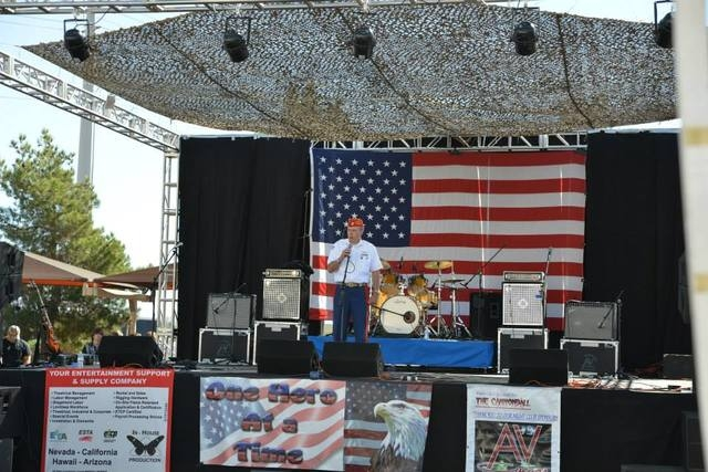 A veteran speaks at a past One Hero at a Time benefit concert. This year's event is planned from noon to 10 p.m. Oct. 18 at the Jokers Wild, 920 Boulder Highway. (Special to View)