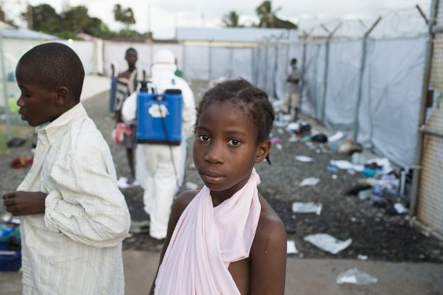 Young patients are discharged from the Island Clinic in Monrovia, September 30, 2014, where patients are treated for Ebola. After being refurbished by the Liberian Ministry of Health and Social We ...