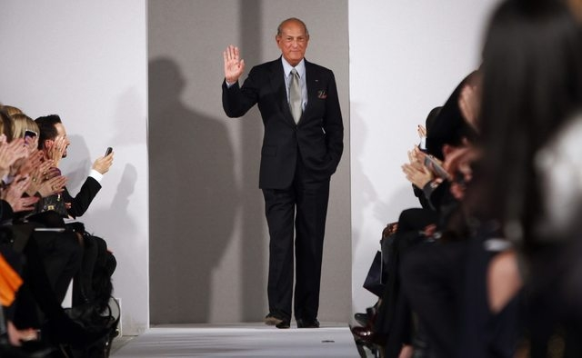 Oscar de la Renta is seen during his Fall/Winter 2012 collection show during New York Fashion Week in this February 14, 2012 file photo. Designer Oscar de la Renta, one of the biggest names in the ...