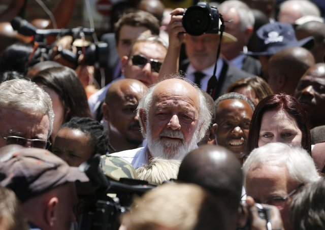 Barry Steenkamp, father of Reeva Steenkamp, leaves the court after the sentencing of South African Olympic and Paralympic sprinter Oscar Pistorius in Pretoria, Tuesday, Oct. 21, 2014. Pistorius wa ...