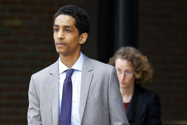 Robel Phillipos, a friend of suspected Boston Marathon bomber Dzhokhar Tsarnaev, is shown in May. Phillipos was found guilty of lying to the FBI on Tuesday, Oct. 28, 2014, in Boston. (Reuters/Bria ...