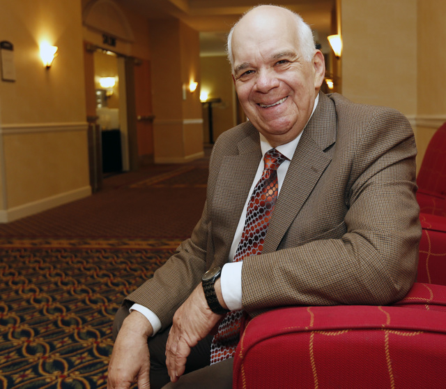 Steve Block of the New York Council on Problem Gambling poses during the group's annual conference on Thursday, Oct. 2, 2014, in Albany, N.Y. New York has slashed funding for gambling addiction in ...