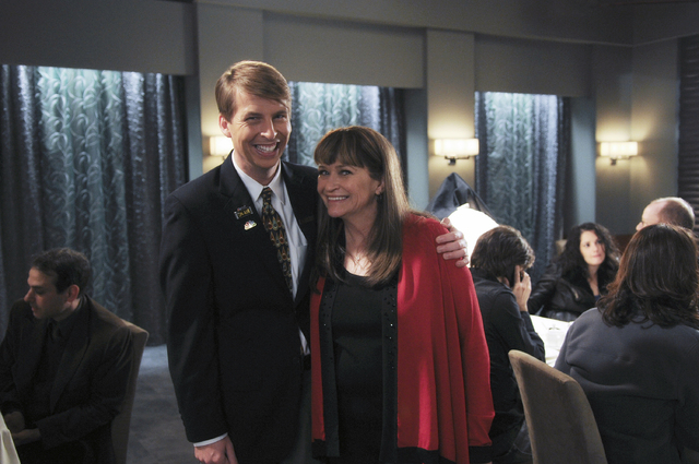 "This photo provided by NBC Universal shows Jack McBrayer, left, as Kenneth, and Jan Hooks as Verna in season 4 of the television series, ""30 Rock."" Hooks, the former ""Saturday Night ..."
