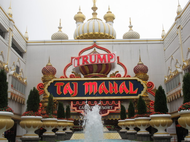 FILE - This Sept. 22, 2011 file photo shows the Trump Taj Mahal Casino Resort in Atlantic City NJ. Its owners and main casino workers union are clashing over the company's demand for substantial u ...