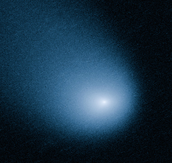 This March 27, 2014 image provided by NASA, ESA, and J.-Y. Li shows comet C/2013 A1, also known as Siding Spring, as captured by Wide Field Camera 3 on NASA's Hubble Space Telescope. (AP Photo/NAS ...