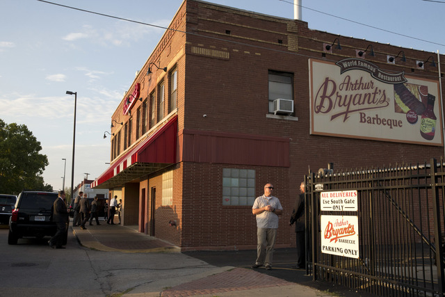 Arthur Bryant's, the legendary barbecue restaurant in Kansas City, Mo., is shown on the day President Barack Obama visited. Bryant's is a must-stop for politicians, having hosted everyone from Har ...