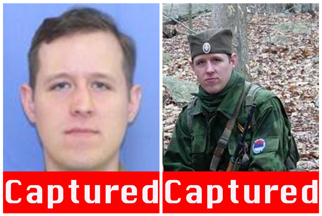 This combination of undated images provided by the Federal Bureau of Investigation after the capturing of Eric Matthew Frein, on Thursday, Oct. 30, 2014, show Frein, 31, of Canadensis, Pennsylvani ...