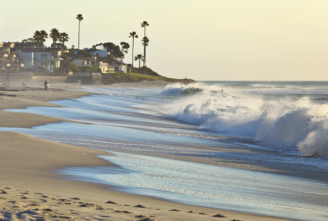 Sunset Beach in San Diego, California, is shown. A new report from the Union of Concerned Scientists says that as sea levels rise, tidal flooding along the U.S. coast is likely to become so common ...