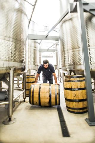 Distillery room, Churchill Vineyards distillery operation in Fallon. (Courtesy Churchill Vineyards)
