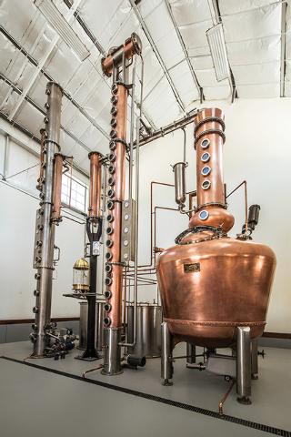 Still, Churchill Vineyards distillery operation in Fallon. (Courtesy Churchill Vineyards)