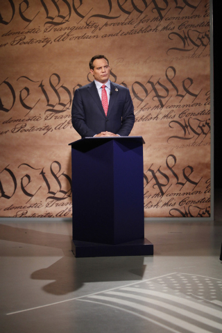 Nevada attorney general candidate Ross Miller participates during a debate against his opponent Adam Laxalt at Vegas PBS in Las Vegas Friday, Oct. 10, 2014. The candidates discussed issues that in ...