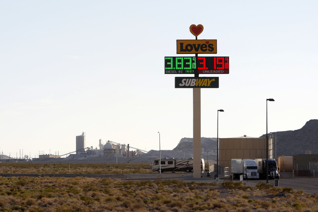 The Love's Travel Stop that anchors the Apex Commercial Center North section of the Apex Industrial Park is seen Thursday, Oct. 23, 2014. (Sam Morris/Las Vegas Review-Journal)