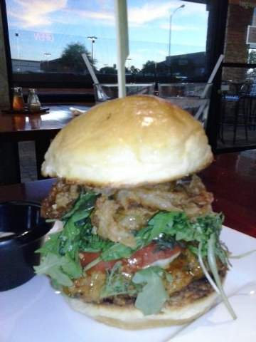 The Lonely Bird turkey burger is shown at Bachi Burger, 470 E. Windmill Lane, Suite 100 (Gina Pearl/Special to View)