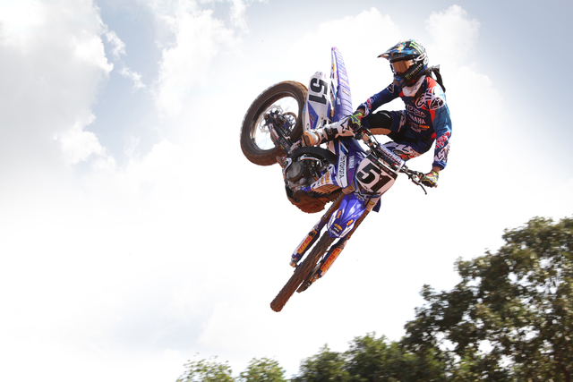 """Supercross racer Justin Barcia says """"My riding's very aggressive. That's my style."""" (JGRMX/Toyota/Yamaha Racing)"""