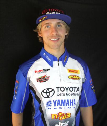 Supercross racer Justin Barcia. (JGRMX/Toyota/Yamaha Racing)