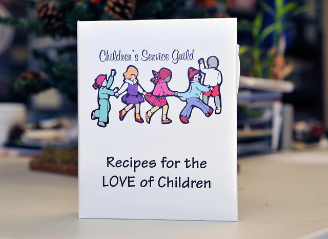 A homemade recipe book is displayed at the Children's Service Guild workshop at Child Haven in Las Vegas on Friday, Sept. 26, 2014. The cookbook, along with many other crafts, will be for sale at  ...