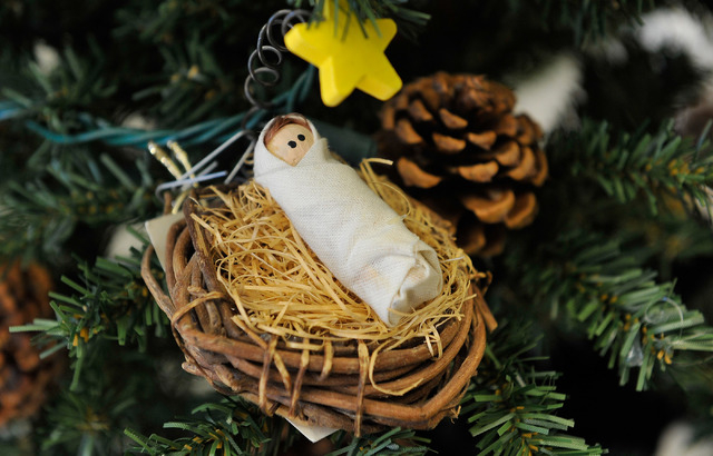 A tree ornament is displayed at the Children's Service Guild workshop at Child Haven in Las Vegas on Friday, Sept. 26, 2014. The seasonal craft, along with many others, will be for sale at the 40t ...