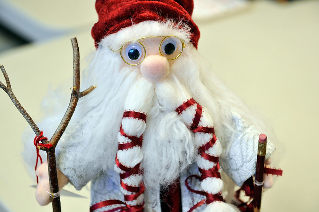 A holiday decoration is displayed at the Children's Service Guild workshop at Child Haven in Las Vegas on Friday, Sept. 26, 2014. The seasonal craft, along with many others, will be for sale at th ...