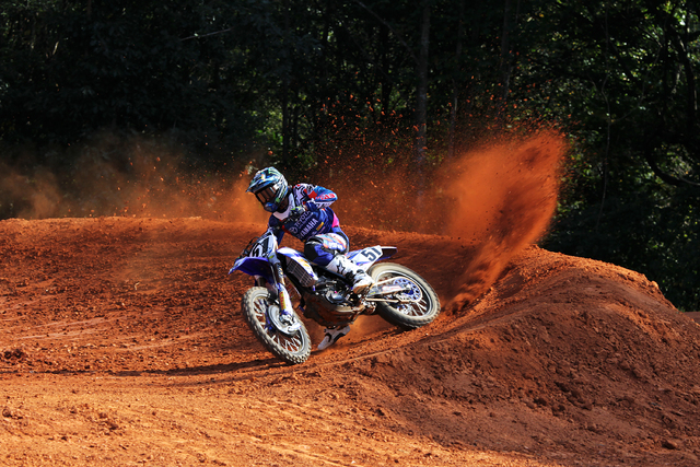 Supercross racer Justin Barcia hasn't won many friends on the track with his aggressive riding style. He returns from injury to ride in the Monster Energy Cup at Sam Boyd Stadium on Saturday.(JGRM ...