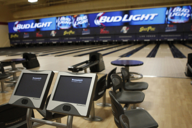 The new South Point Bowling Plaza at South Point casino-hotel in Las Vegas during a tour Wednesday, Oct. 22, 2014. (Erik Verduzco/Las Vegas Review-Journal)