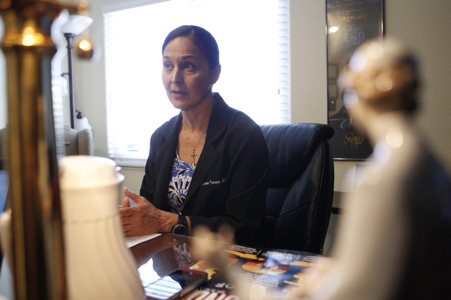 Dr. Florence Jameson is interviewed about the future Ruffin Family Clinic at the Women's Wellness Center in Las Vegas Monday, Sept. 29, 2014. (Erik Verduzco/Las Vegas Review-Journal)